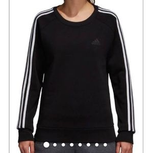 Adidas Size M Women's black crewneck